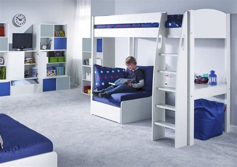 Stompa UNOS High Sleeper Frame with Desk and Chair Bed ONLY