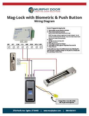 magnetic lock support murphy door