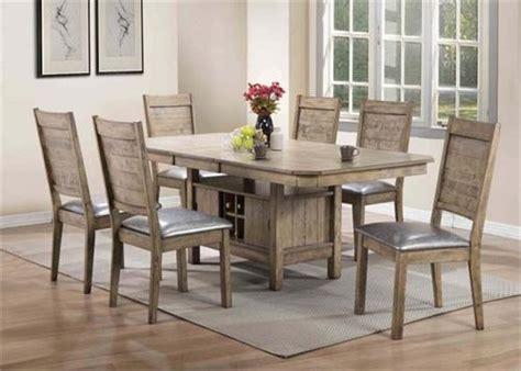acme  ramona rustic oak dining set