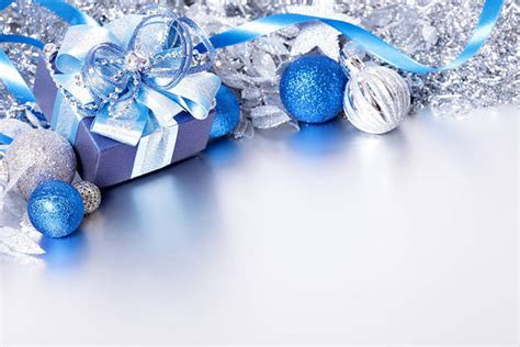 silver  blue christmas background  gift gallery
