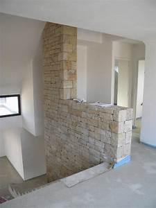 mur decoratif interieur en pierre naturelle pour un With salle de bain design avec muret pierre reconstituée décoratif