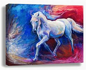 Souq Art On Canvas Multi Color Horse Painting UAE