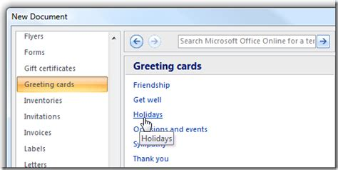 birthday card template microsoft word 2007 make your last minute cards with microsoft word
