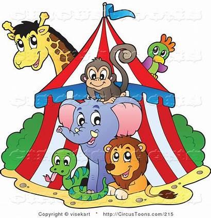 Circus Tent Animals Clipart Wild Visekart