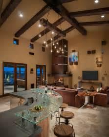 Whisper Rock Residence  Southwestern  Living Room