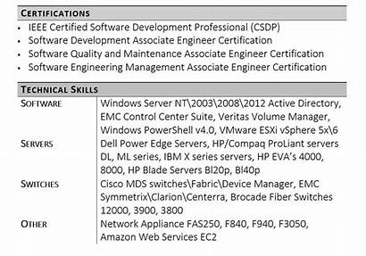 Skills Technical Resume Example Software General Section