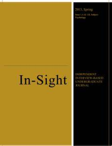 In-Sight: Independent Interview-Based Journal | In-Sight ...