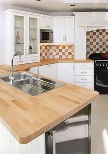 plan de travail bois massif cuisine et salle de bain With plan de travail cuisine hetre
