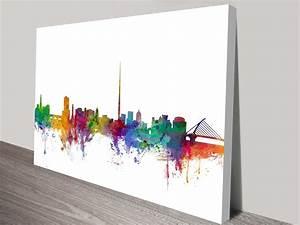 Dublin Ireland Skyline Art Print by Michael Tompsett