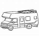 Caravan Coloring Camping Camper Colouring Para Desenhos Rv Colorir Coloringcrew Wheel 5th Fifth Colorear Motorhome Madeira Brinquedos sketch template