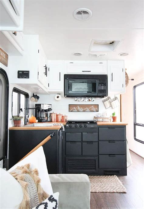 painting rv cabinets painted rv kitchen cabinets mountainmodernlife
