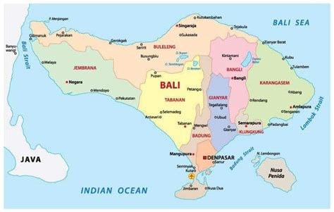 bali map indonesia world map tourist attractions