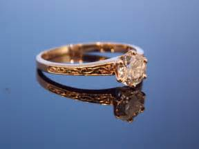 filigree engagement rings reserved gold european cut six