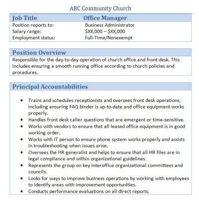 front desk security officer responsibilities 45 free downloadable sle church job descriptions
