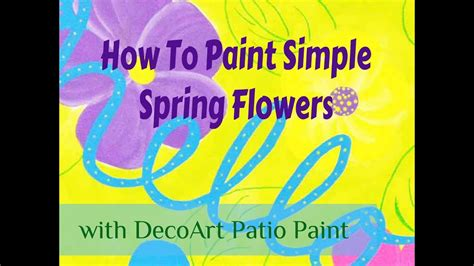 How To Paint Simple Spring Flowers