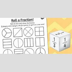 Year 2 Roll A Fraction Activity Sheet  Fractions  Fraction Activities, Activity Sheets