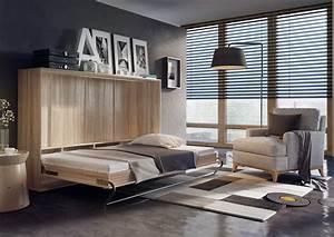 Lit Escamotable Armoire : lit escamotable horizontal cosy ch ne sonoma openbed ~ Premium-room.com Idées de Décoration