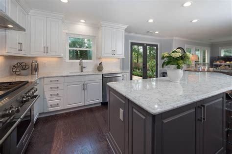 contemporary white gray kitchen cheryl pett design
