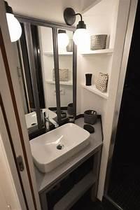 Plan Petite Salle D Eau : paris 9 r novation d 39 un studio de 26 m2 c t maison ~ Dallasstarsshop.com Idées de Décoration