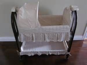 eddie bauer solid cherry bassinet for sale in hamilton