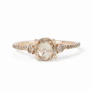 champagne diamond solitaire ring catbird With champagne wedding ring