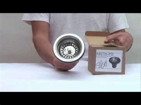 how to install a kitchen sink strainer kitchen sink strainer basket abst35 pss polished stainless 9421
