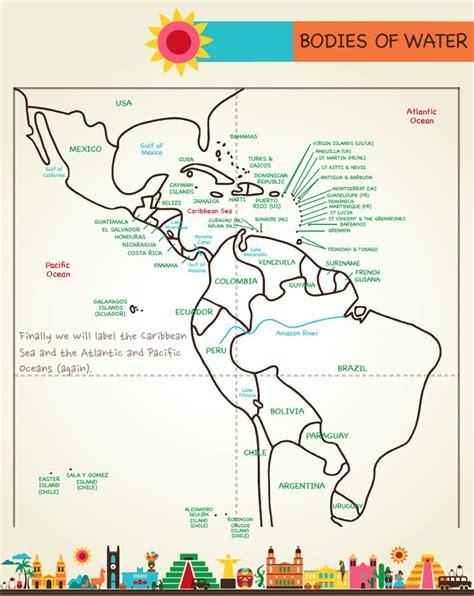 draw mexico central south america artk