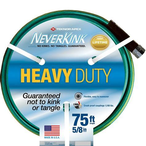 Neverkink 5/8 in. Dia x 75 ft. Heavy Duty Water Hose 8605