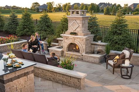 unilock new york outdoor fireplace design ideas getting cozy with 10
