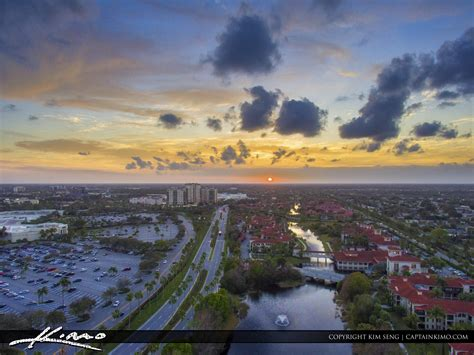 palm gardens sunset aerial gardens parkway