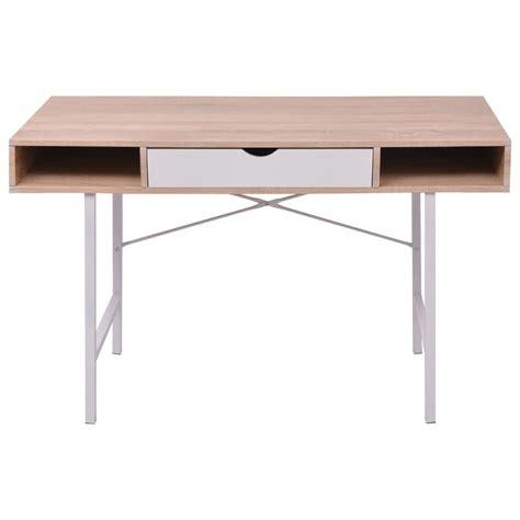 bureau de travail à vendre vidaxl bureau avec 1 tiroir ch 234 ne et blanc table d