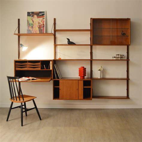 bureau biblioth鑷ue biblioth 232 que bureau modulable poul cadovius 1957