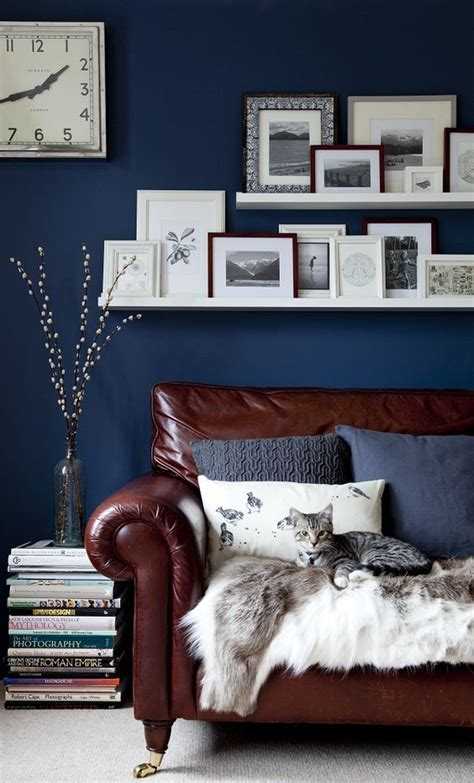 blue and brown furniture 26 cool brown and blue living room designs digsdigs