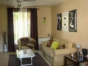 decoration salon peinture beige With quelle couleur pour le salon 9 deco chambre vert olive exemples damenagements