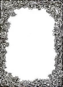 Victorian Scroll Border Clip Art