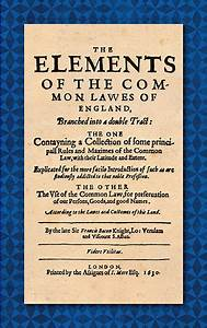 The Elements Of The Common Laws Of England  Branched Into