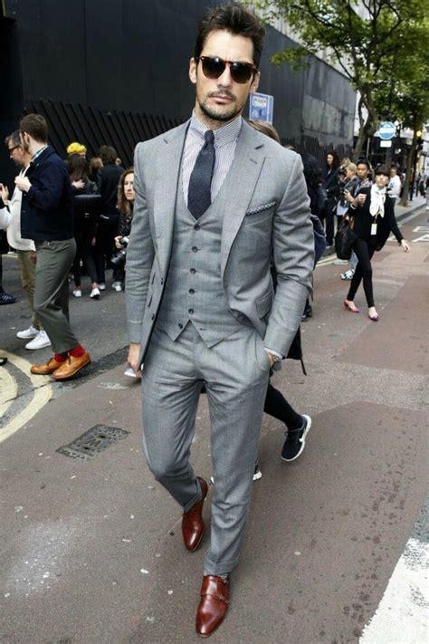grauer anzug braune schuhe gray suit shoes chinohose in 2019 anzug hochzeit m 228 nner mode und