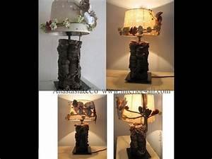 Lampe Mit Holzstamm : lampe selbst gestalten kreativ video youtube ~ Indierocktalk.com Haus und Dekorationen