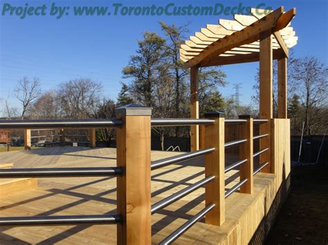 toronto custom deck design pergolas fences outdoor