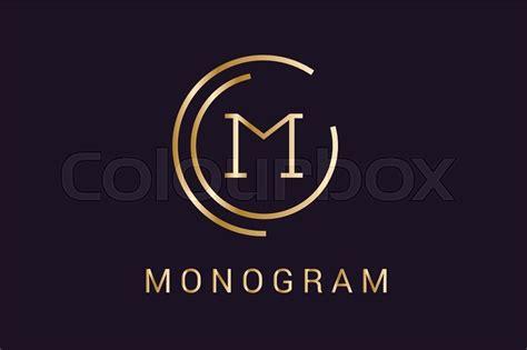 sekretär modern design arabisk monogram jurist stock vektor colourbox