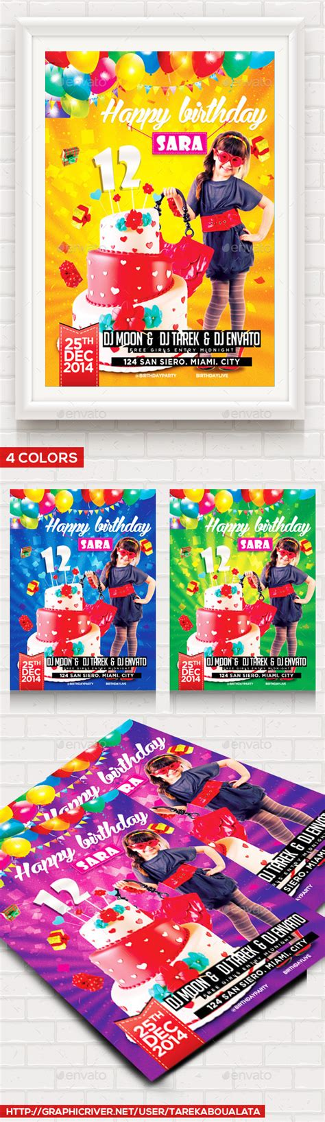 birthday party flyer template  images party flyer