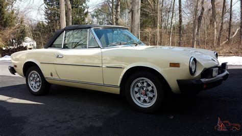 1982 Fiat Spider 2000 by 1982 Fiat Spider 2000 Pininfarina With Only 74 292