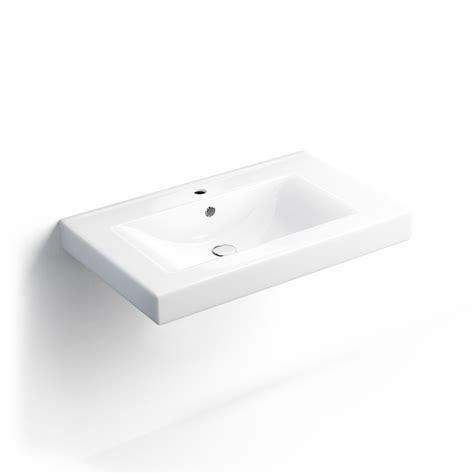 plan vasque suspendu c 233 ramique 80 x 48 cm
