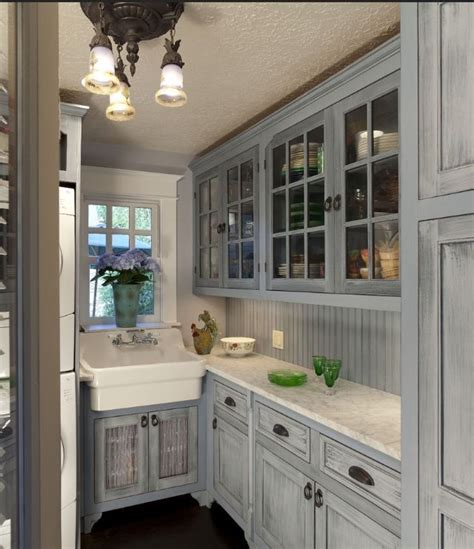 distressed gray kitchen cabinets love the gray kitchen dining pinterest