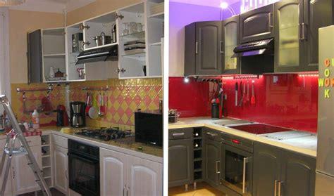 cuisine repeinte en gris avant après relooker sa cuisine repeindre ses meubles pour une cuisine moderne 18h39 fr