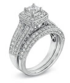 vintage wedding ring sets enthralling antique wedding ring set 2 carat princess cut on gold jeenjewels