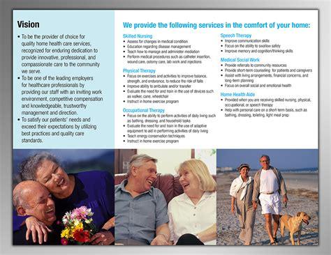 elegant traditional home health care brochure design