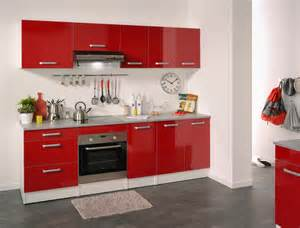 cuisine compl 232 te contemporaine blanche rouge brillant