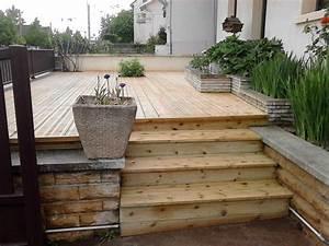creer une terrasse en bois wrastecom With creer une terrasse en bois