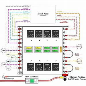 Custom Relay Panels  U2014 Choose 4  6 Or 8 Switches